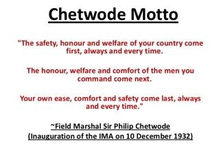 chetwode motto